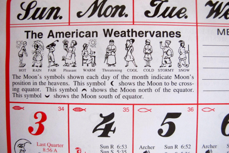 Almanac Calendar Feather By Feather